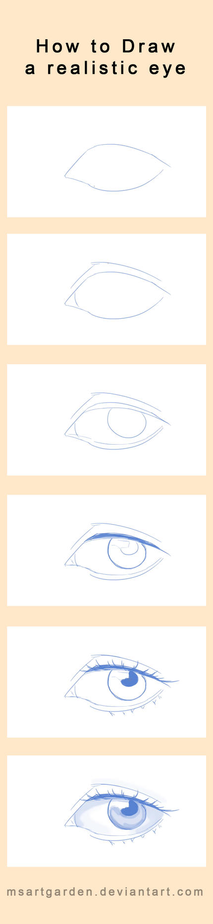 How to draw a realistic eye by MsArtGarden
