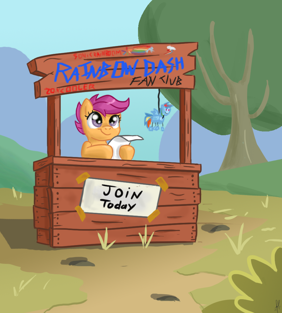 Rainbow dash Fan club by PixelDisc