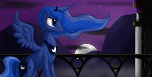 a lone quiet night