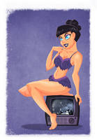 Bettie Page Pin up by MichelVerdu