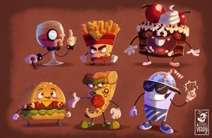 junk food gang! by MichelVerdu