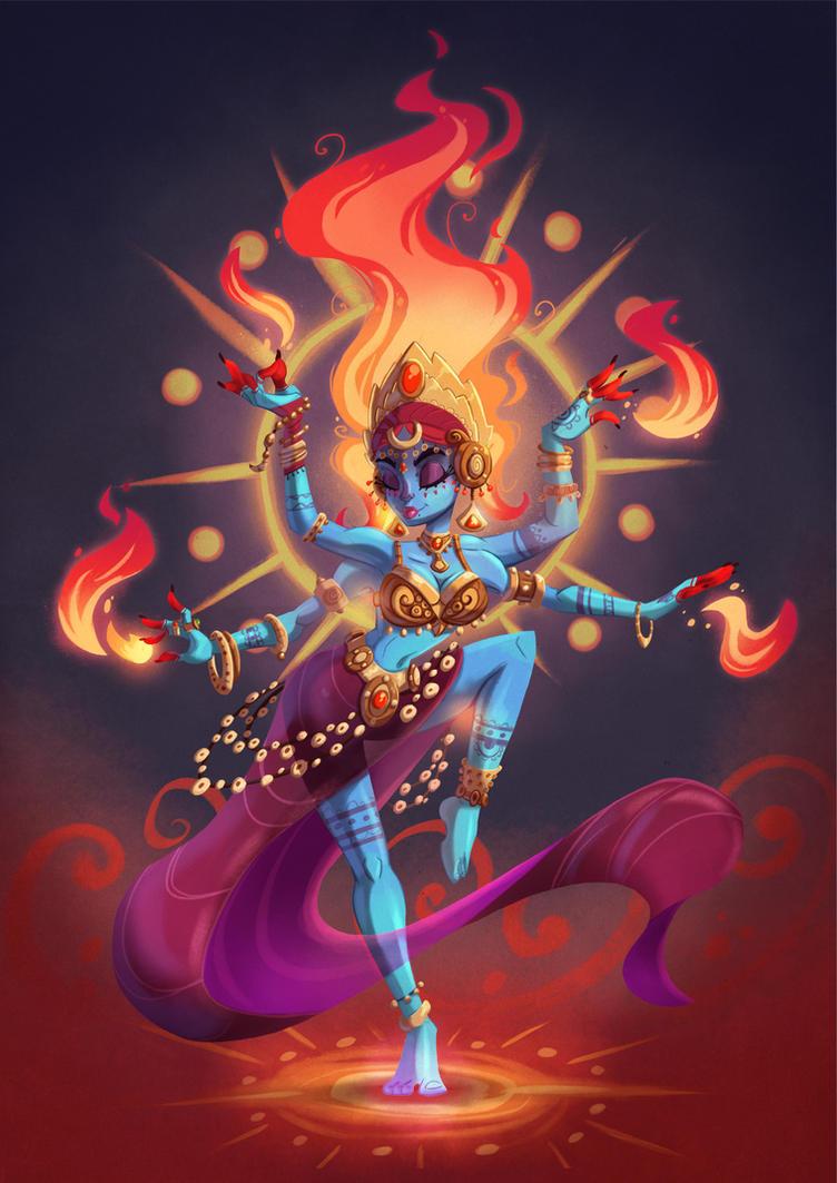 Hindu Fire goddess by MichelVerdu