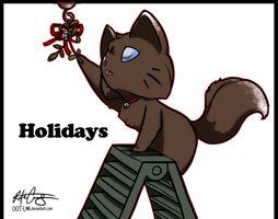 xmas mistletoe by OOT-Link