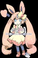 Ninfia Gijinka- CLOSED for Adopt by OOT-Link