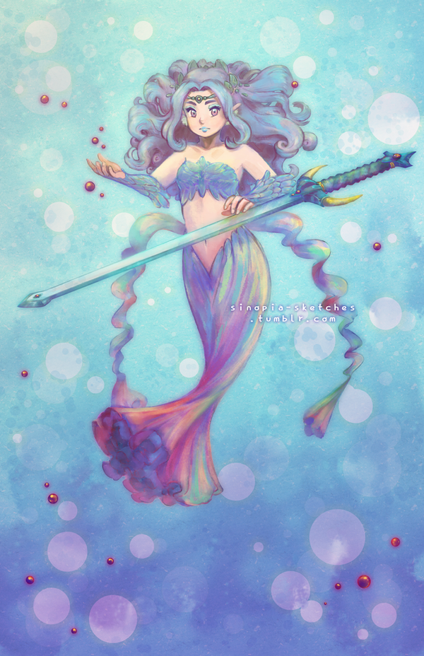 Rainbow Mermaid by OOT-Link