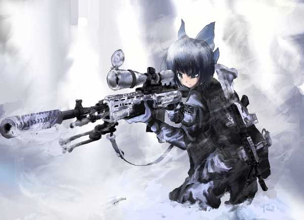 Cirno with M14 EBR by Lucan1714 on DeviantArt M14 Wallpaper