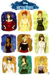 Doctor Who Princesses by Orchideacae