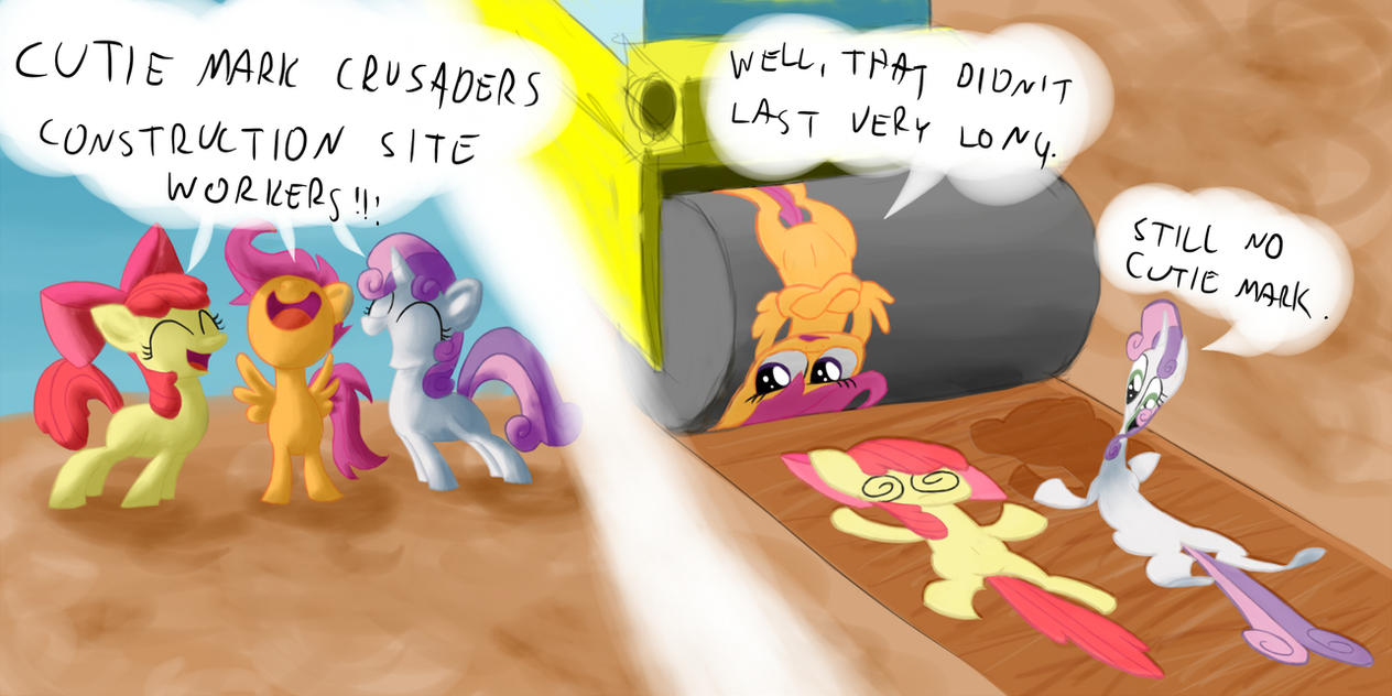 Cutie Mark Crusader Construction Side Workers! by Noctulov