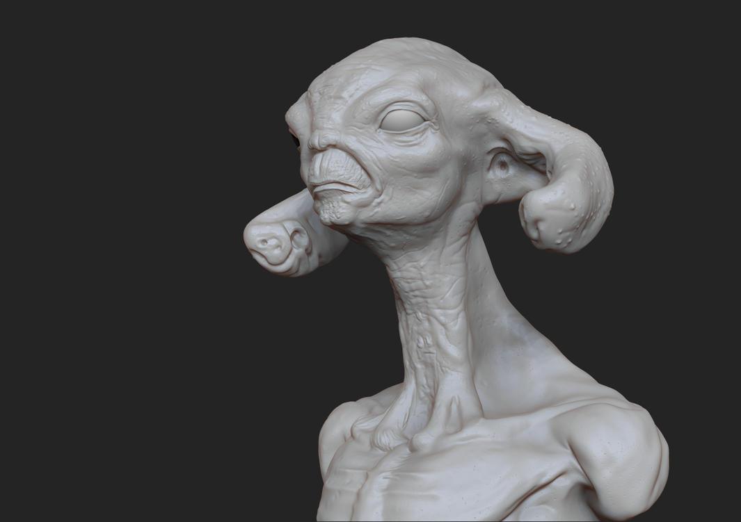 Alien textured by Namrettek
