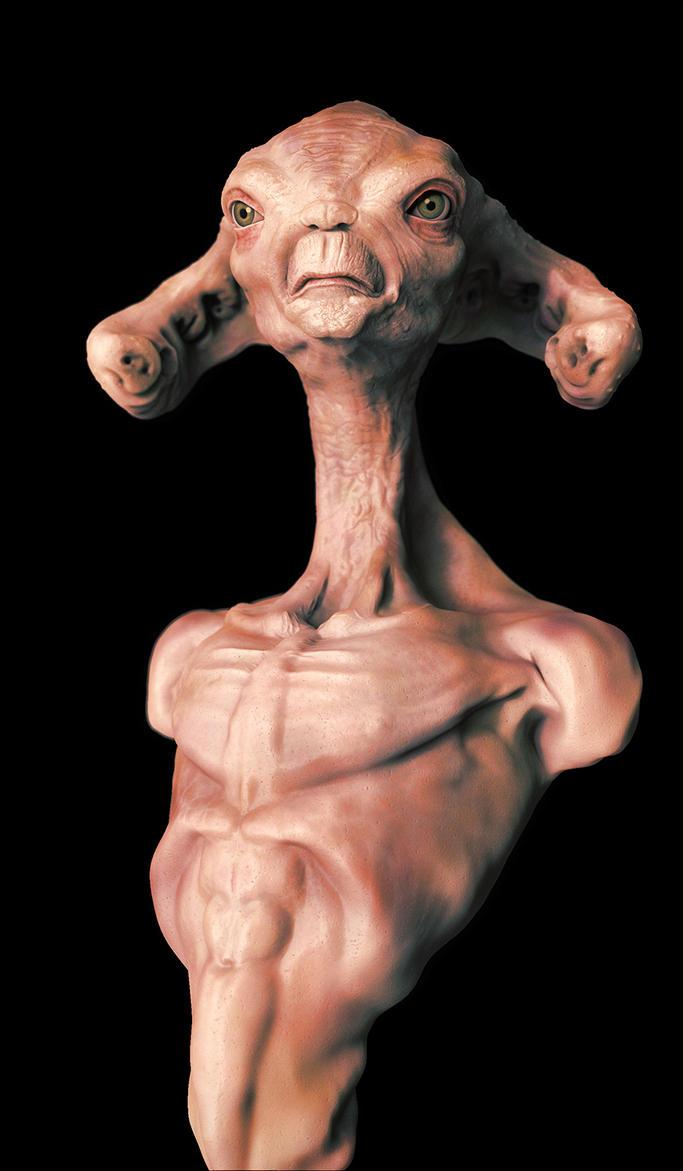 Alien Maquette view 2 by Namrettek