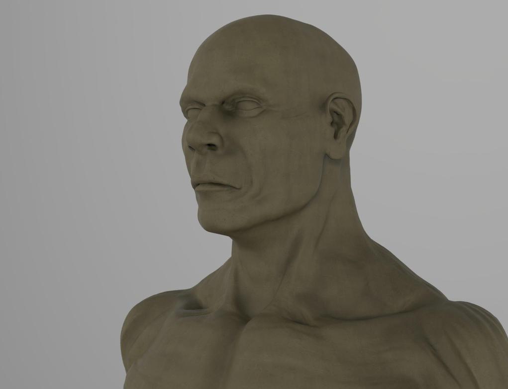 Male Bust - speed sculpt by Namrettek