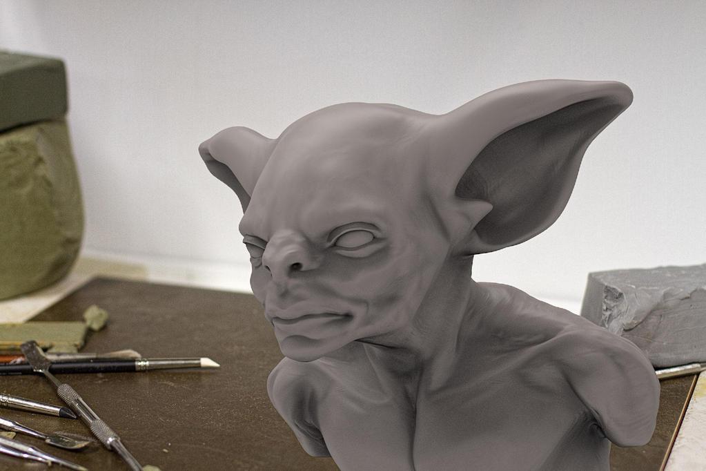 Man Bat  Speed sculpt by Namrettek