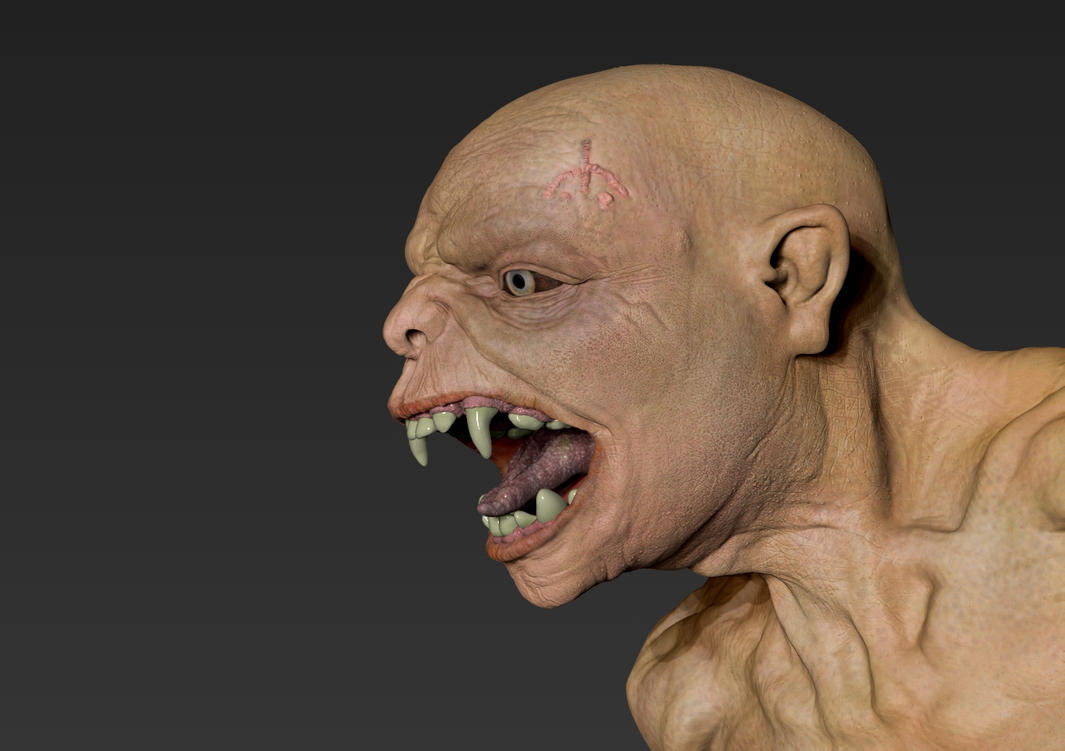 Scarred Demon - Zbrush only render by Namrettek