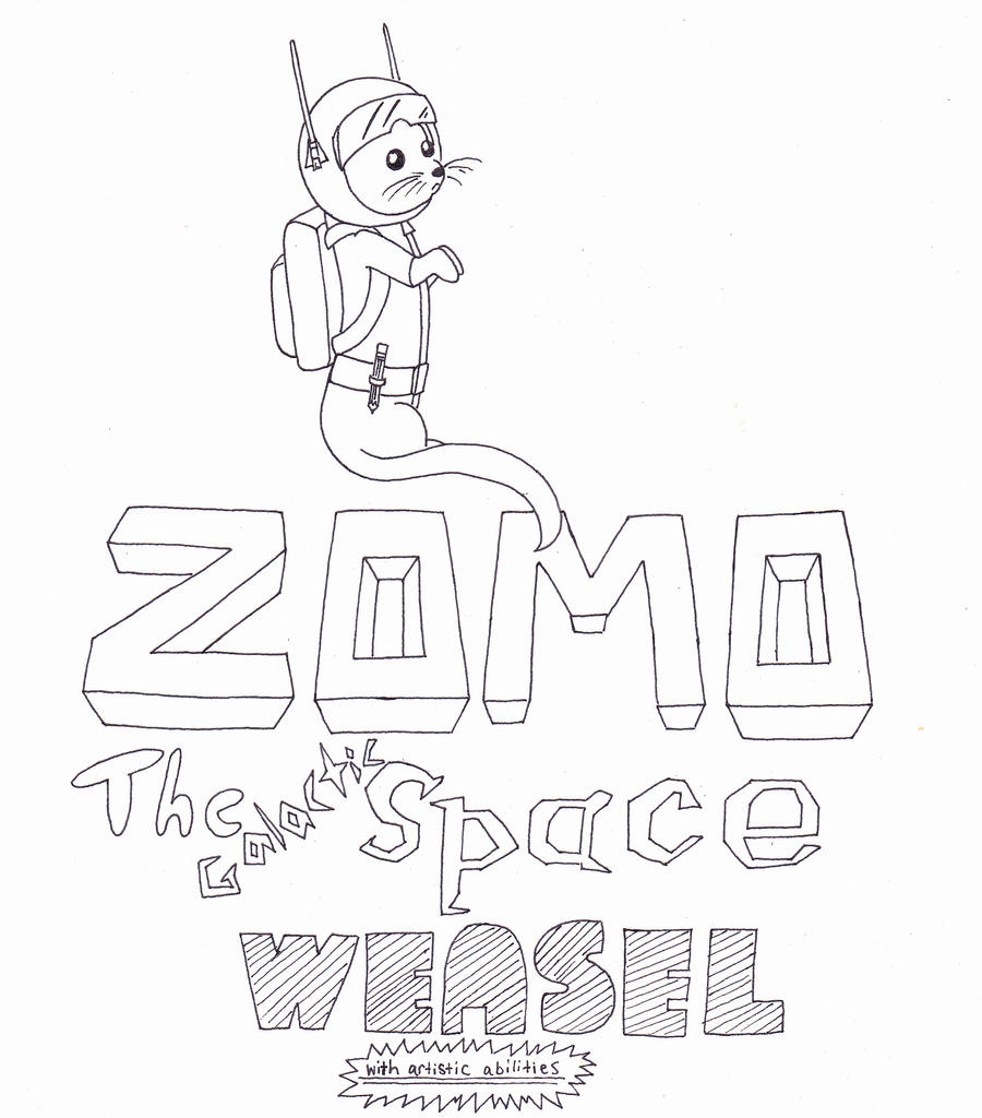 ZOMO: The Galactic Space Weasel by Snivy94