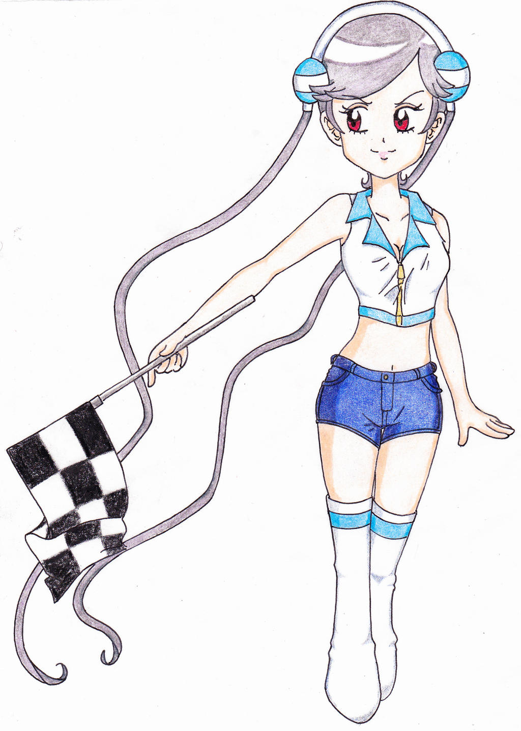 Flag Girl Nanako [Completed] by Snivy94