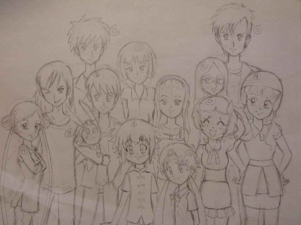 Group Picture W.I.P. by Snivy94