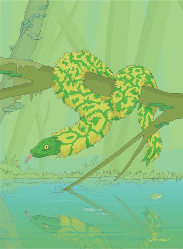 Fluffy snake by Janea1