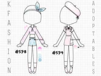 CLOSED   200 Pts   Outfits 578-579 by SacriHeid