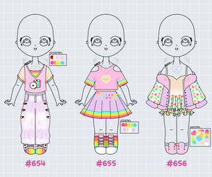 [OPEN] Outfit Adopts 654-656
