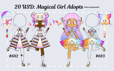 [OPEN] magical girl outfit/chara adopts!