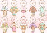 [OPEN] pastel kawaii food outfit adopts