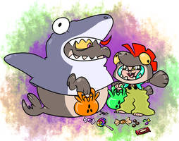Trick or Treat! by Schizotypal-Sar