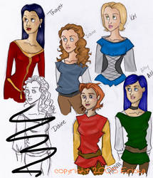 Tamora Pierce characters by ericka594