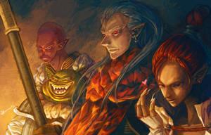 Chrono Trigger : Magus Team by Hooooon