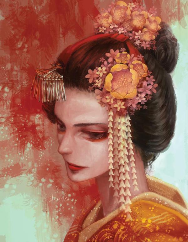 Japanese Girl by Hooooon