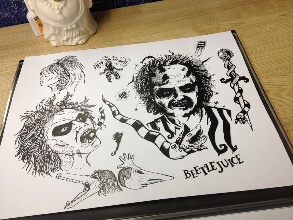 Beetlejuice Tattoo fla...