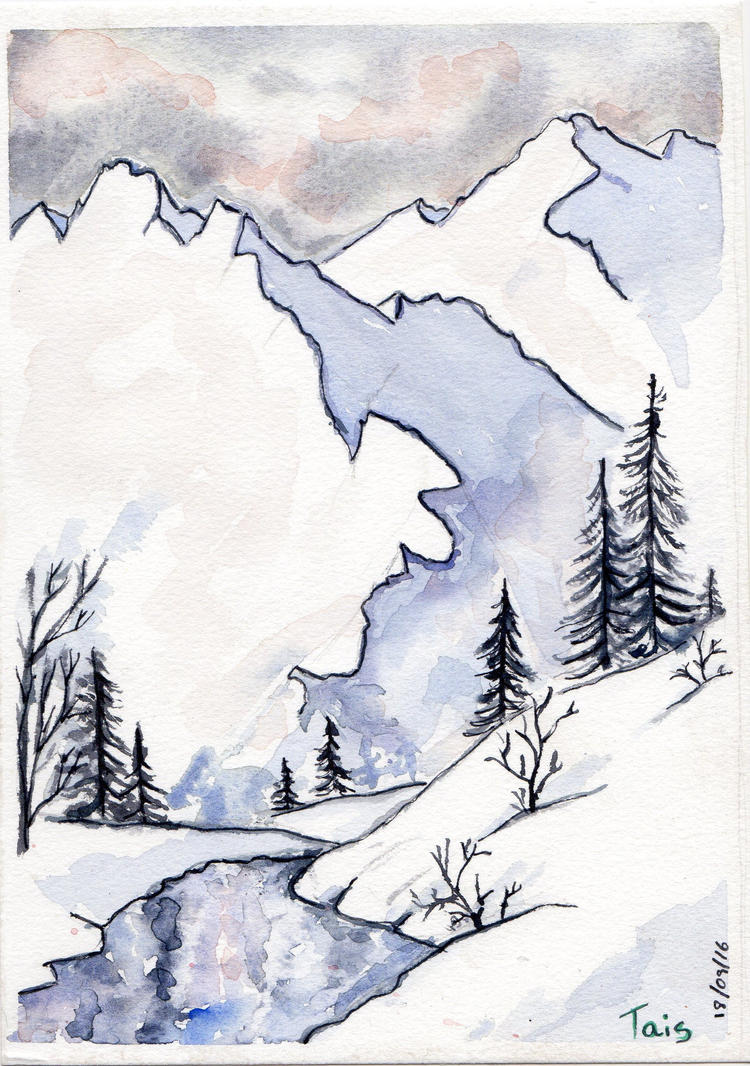 Snowy Mountain by LooneyDreamer