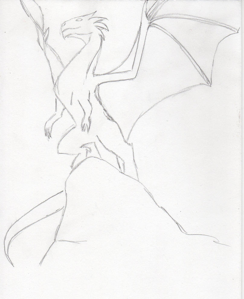 Dragon Sketch by LooneyDreamer