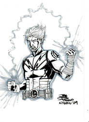Lightning Lad by Joe Prado by JudeDeluca