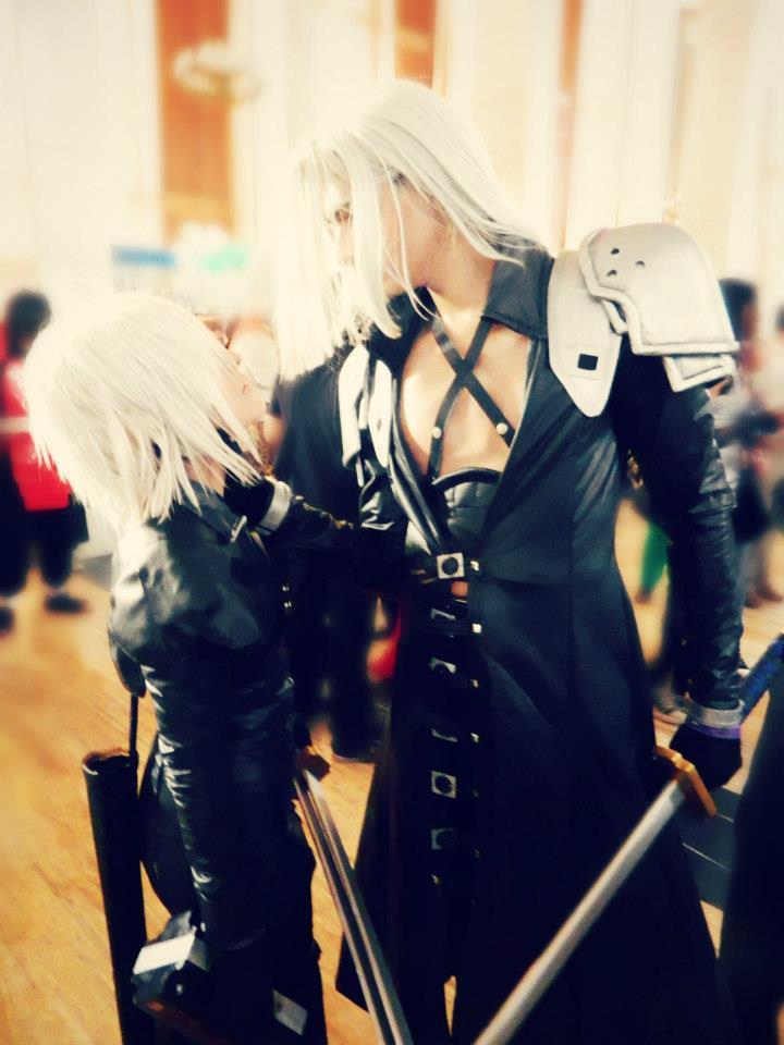 Kadaj and Sephiroth Yaoi cosplay by megamihinata