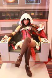 female Assassin's Creed cosplay by megamihinata