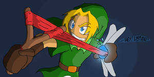 Little Link - Out of Ammo ? by Blue-Dreamcatcher