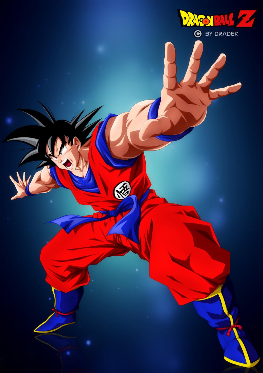 Goku (DBZ) By DraDek by DraDek
