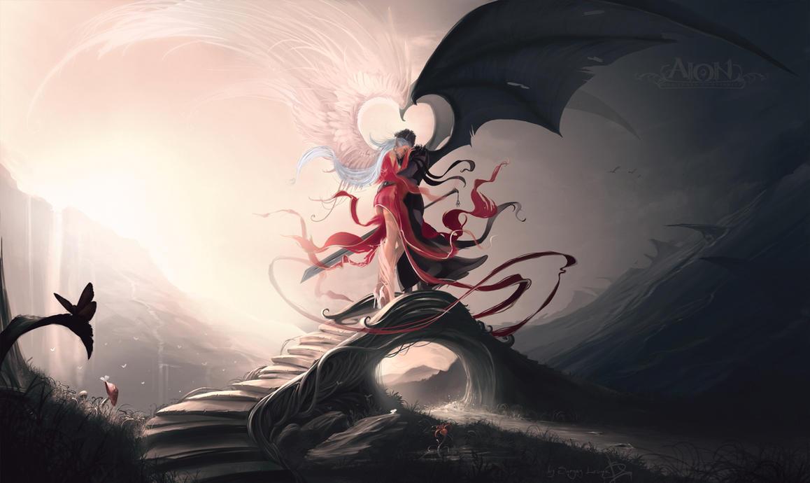 картинки про ангелов дьяволов