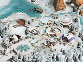 Artist Colony winter BG by Sergey-Lesiuk
