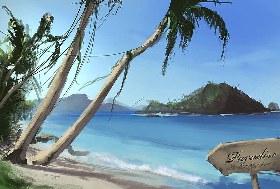 paradise by Sergey-Lesiuk