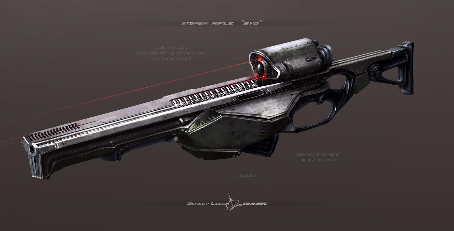 sniper rifle SVD by Sergey-Lesiuk