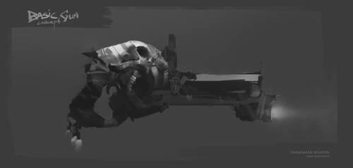 POST apocalypse GUN by Sergey-Lesiuk