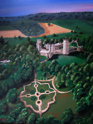 Warwick Castle skyview by kdrmickey
