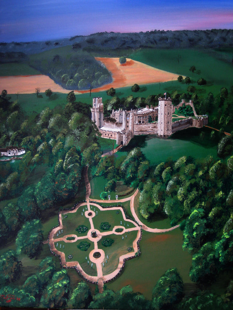 Warwick Castle skyview by kdrmickey