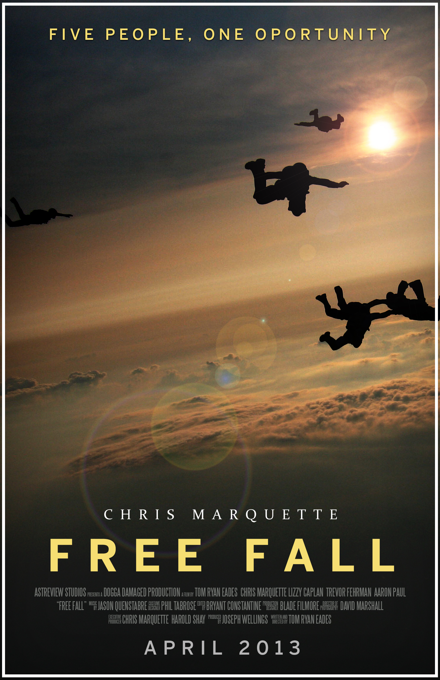 free fall original movie poster 11 in x 17 in by papatom