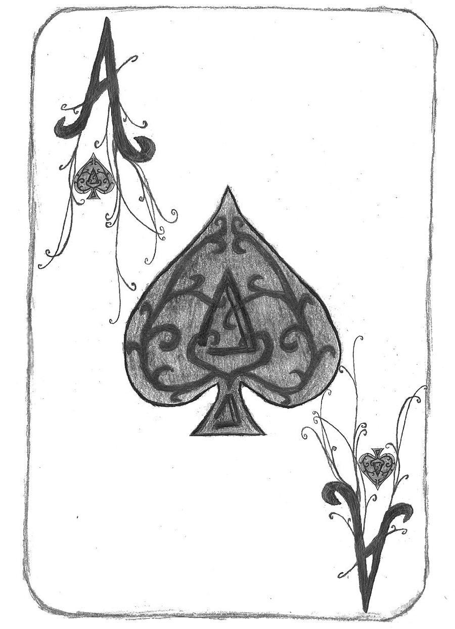 Ace of Spades Card by MinaAlthea on DeviantArt