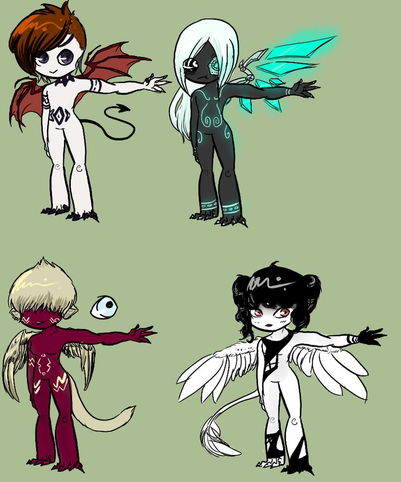 Chibi adoptables by Decepticrunk