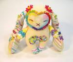 Rainbow Springtime Bunny Plush