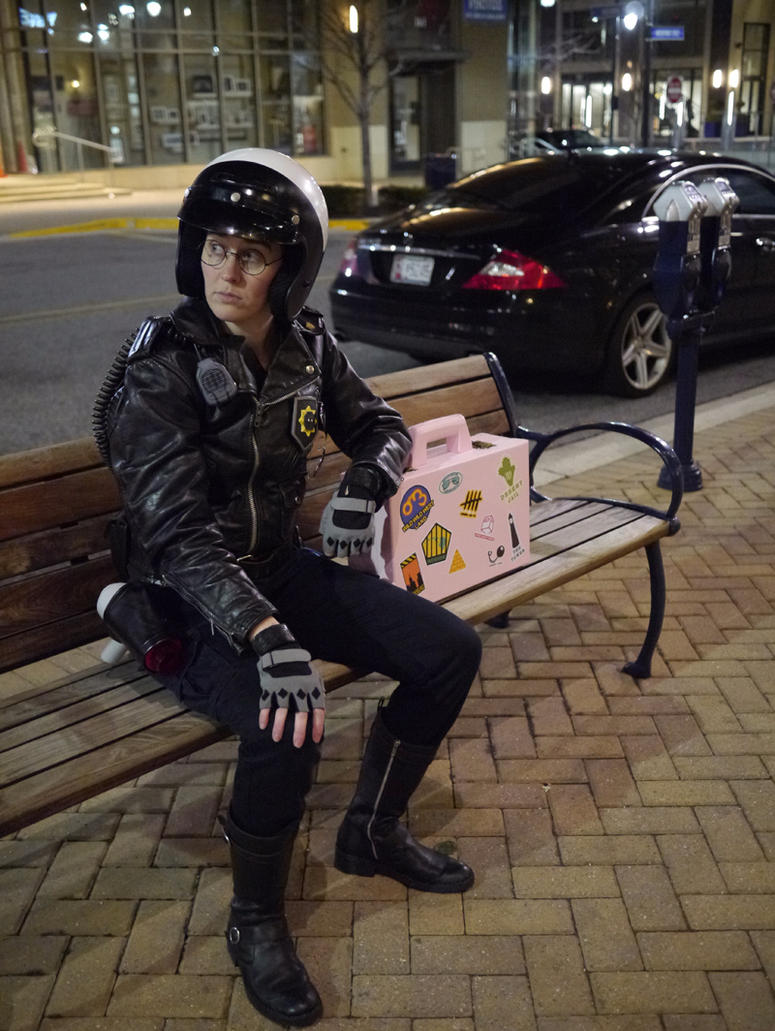 Good Cop waiting for the Bus by Lithe-Fider