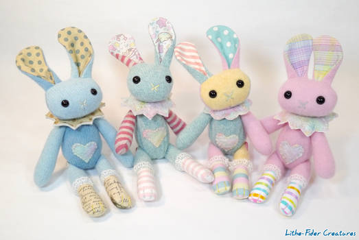 Vintage Style Bunnies group